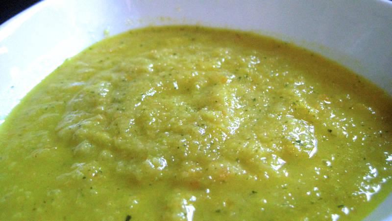 Crema di sedano e zucchine
