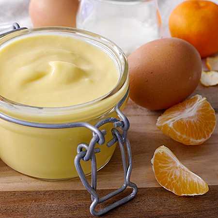 Crema pasticcera al mandarino