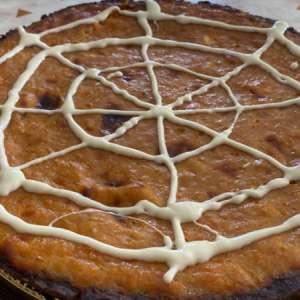 Crostata al cacao con crema di zucca e ricotta