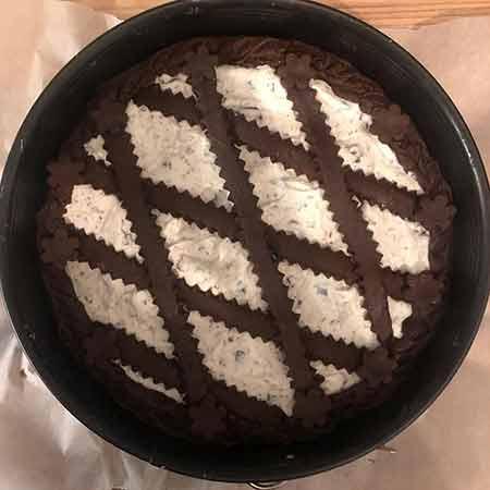 Crostata al cioccolato e crema di mascarpone