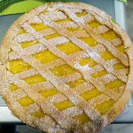 Crostata al limone senza latticini