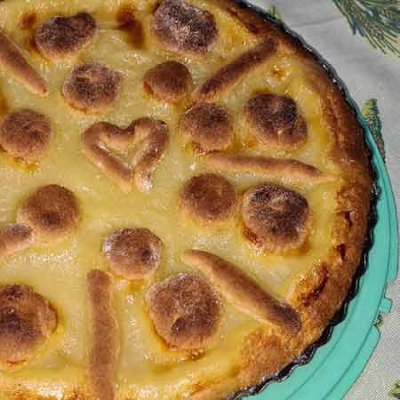 Crostata con gelatina al limone
