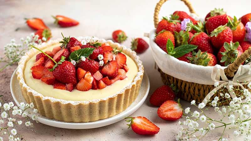 Crostata crema e fragole