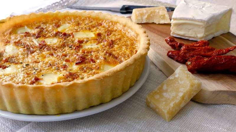 Ricetta Pasta Frolla Per Quiche.Crostata Di Pasta Frolla Salata Pomodori Secchi E Brie Ricette Bimby