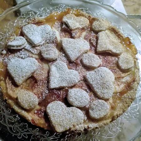 Crostata marmellata pesche, mele e cannella