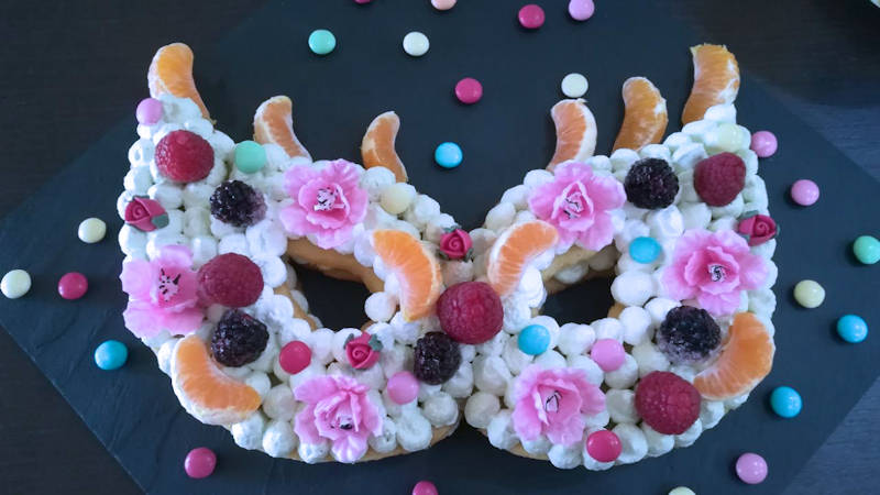 Crostata maschera alla frutta
