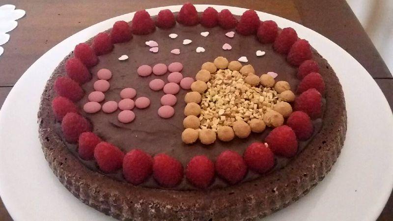 Crostata morbida di farro al cioccolato
