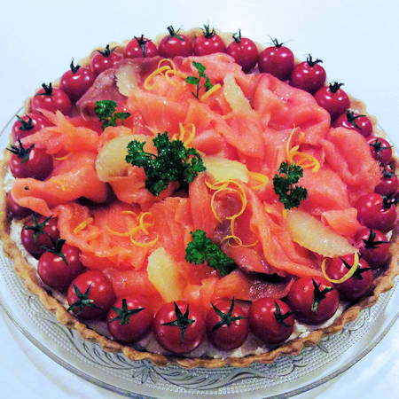 Crostata salata al salmone