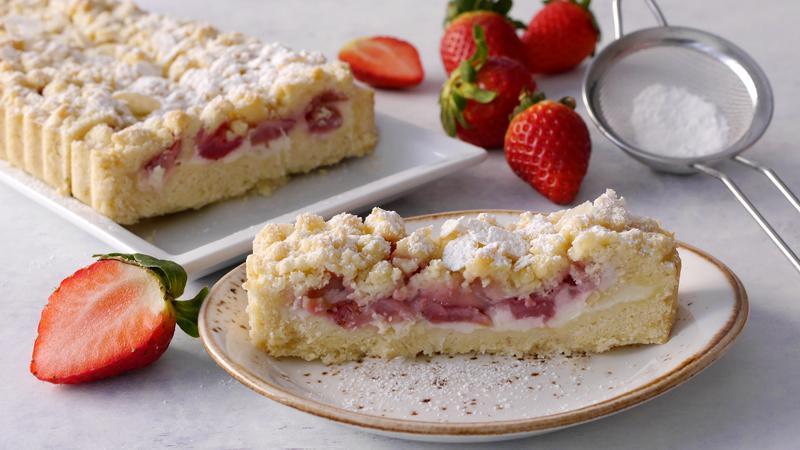 Torta sbrisolona fragole e mascarpone