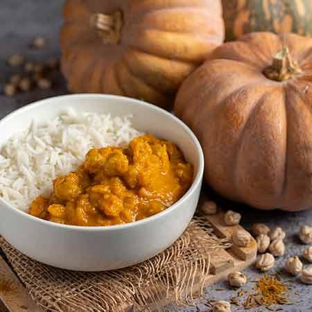 Curry di zucca e ceci