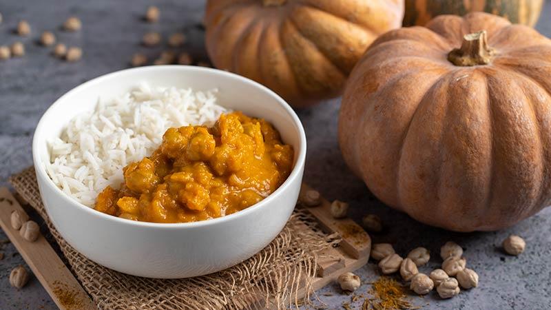 Ricetta Zucca Bimby.Curry Di Zucca E Ceci Ricette Bimby