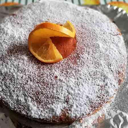 Dolce all'arancia con crema