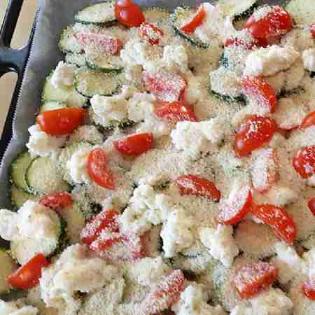 Fantasia di zucchine gratinate