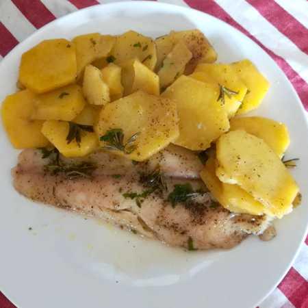 Filetti di pangasio con patate