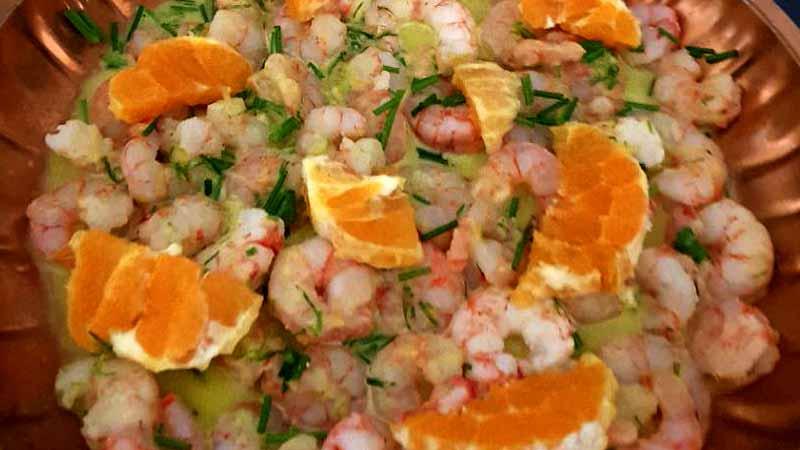 Gamberetti all'arancia