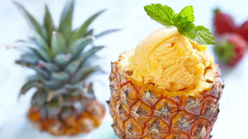 Gelato ananas e yogurt