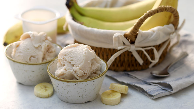 Gelato veloce banana e yogurt