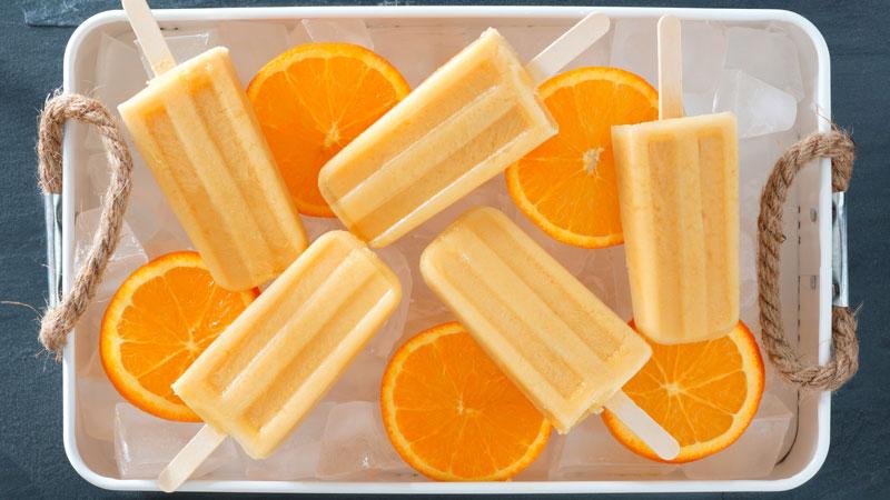 Ghiaccioli all'arancia