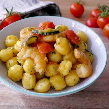 Gnocchetti zucchine e gamberetti