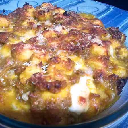 Gnocchi al forno con zucca, salsiccia e noci