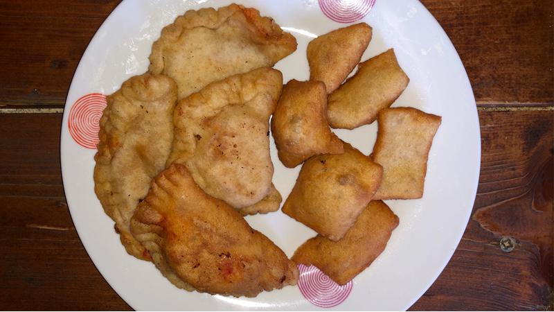 Gnocchi fritti e panzerotti con patate