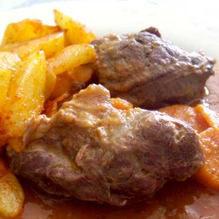 Guanciale stufato con patate