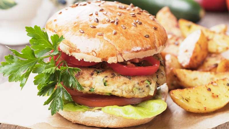 Hamburger pollo e bieta