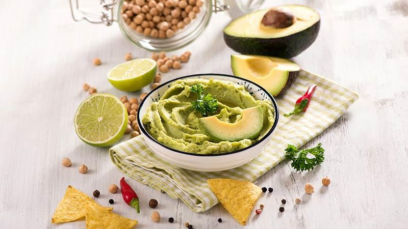 Hummus di avocado
