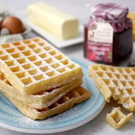 Impasto per waffle veloce