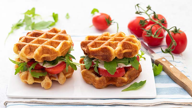 Impasto per waffle salati