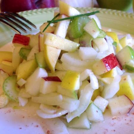 Insalata di finocchi gamberi e mele