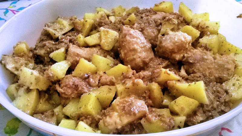 Involtini di carne e patate a Varoma