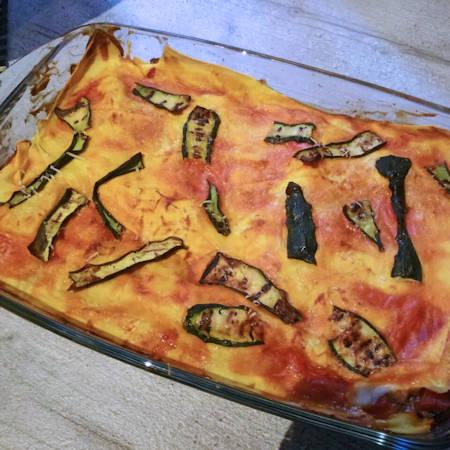 Lasagne light zucchine e peperoni