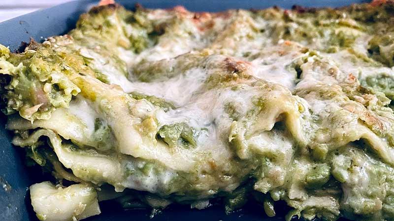 Lasagne piselli e salmone
