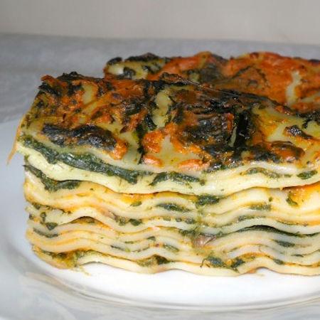 Lasagne zucca e spinaci