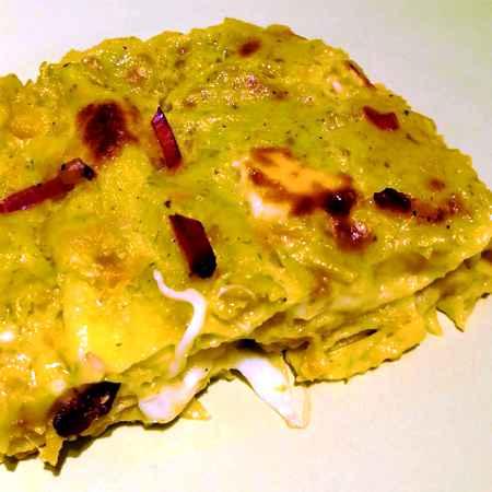 Lasagne zucca pesto e speck