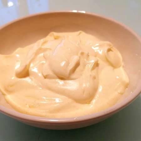 Maionese con yogurt greco
