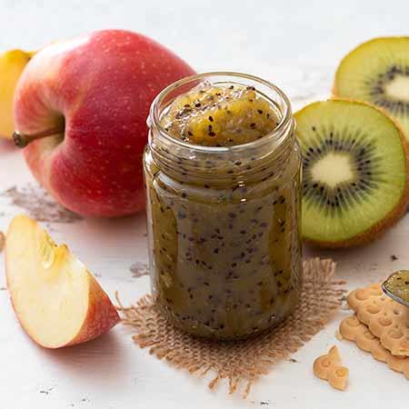 Marmellata di kiwi e mele