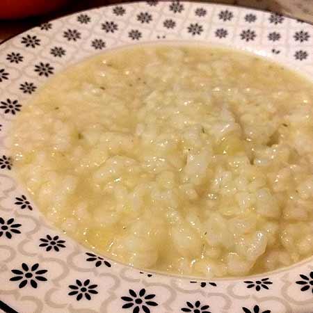 Minestra di riso e patate