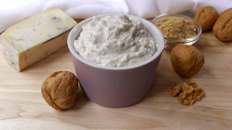 Mousse gorgonzola, ricotta e noci