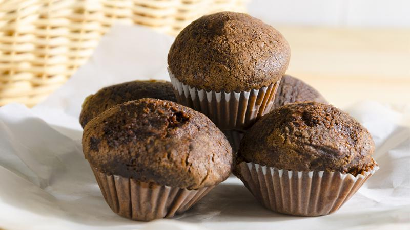Muffin al cioccolato vegani