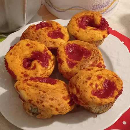 Muffin alla pizza veloci