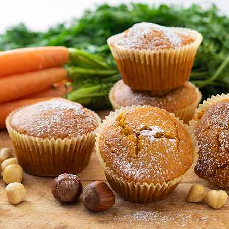 Muffin carote e nocciole