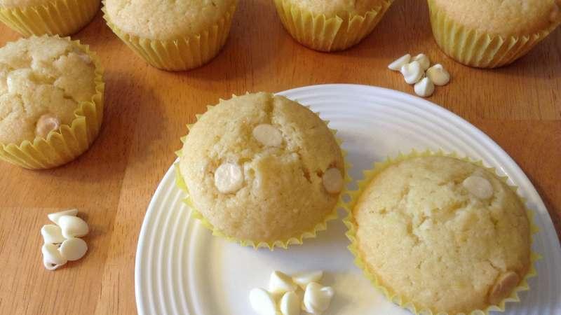 Muffin cioccolato bianco e cocco