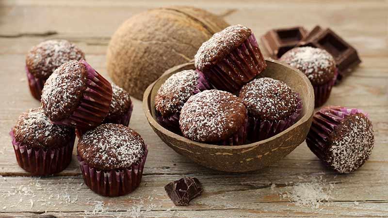 Muffin cioccolato e cocco