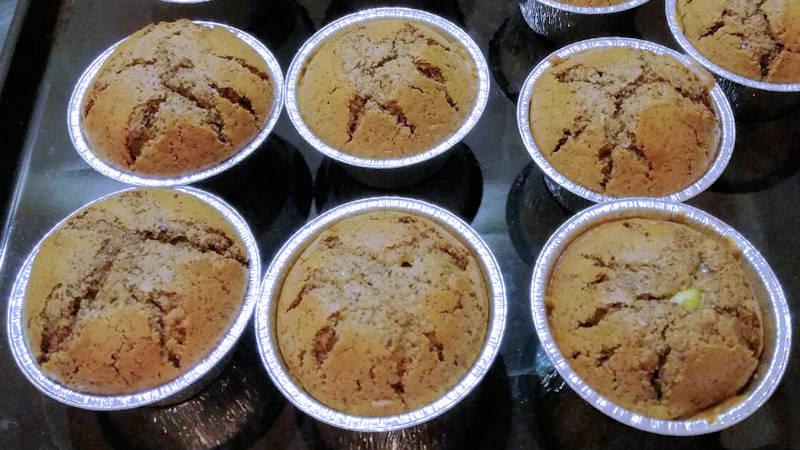 Muffin cioccolato e pistacchio