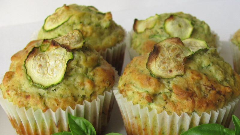 Muffin con zucchine salati