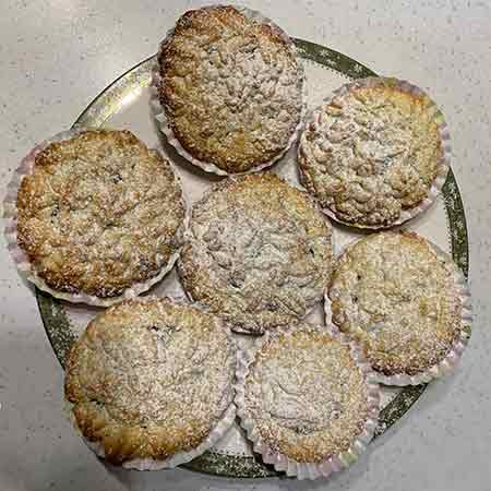 Muffin di frolla montata con Nutella
