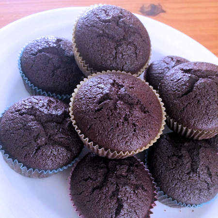 Muffin di quinoa al cioccolato