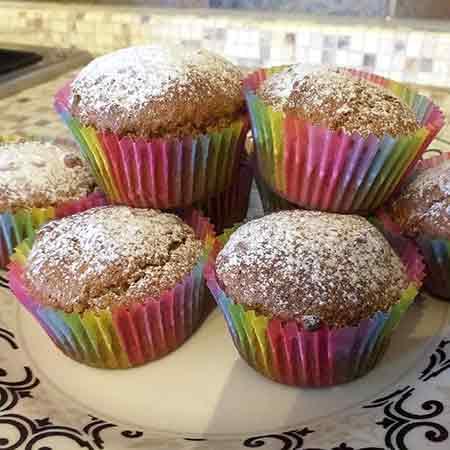 Muffin integrali alla cannella